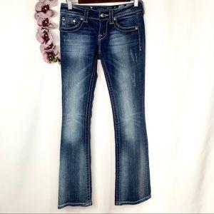 Miss Me Dark Wash Distressed Bootcut Jeans 26